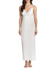 Jonquil Pleated Chiffon Sleep Gown Ivory