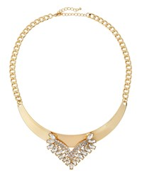 Fragments For Neiman Marcus Fragments Golden Crystal Collar Necklace Clear