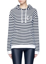 The Upside 'Rimini' Stripe French Terry Hoodie Multi Colour