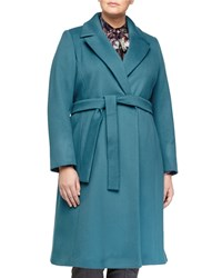 Marina Rinaldi Tiara Wool Long Coat Women's China Blue