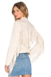 Central Park West Siena Faux Suede Jacket Cream