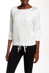 Diane Von Furstenberg Amal Sequined Long Sleeve Tee White