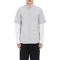 Rag And Bone Men's Striped Short Sleeve Shirt Blue