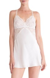 In Bloom By Jonquil Women's Lace Inset Satin Chemise Ivory