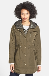 Vince Camuto Coat With Removable Hooded Insert Olive
