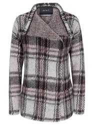 Oui Checked Shrug Cardigan Grey Rose