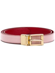 Dolce And Gabbana Classic Thin Belt Pink And Purple
