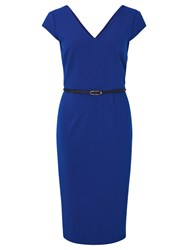 Sugarhill Boutique Kirsty Ribbed Dress Cobalt Blue