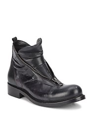 Jo Ghost Cap Toe Leather Boots Washed Black