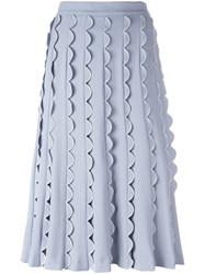 Vivetta Scalloped Detailing A Line Skirt Blue