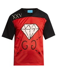 Guccighost Print Mesh T Shirt Red Multi