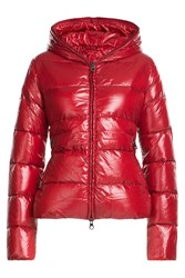 Duvetica Down Jacket With Hood Red