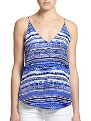 Rory Beca Kingston Printed Silk Camisole Blue