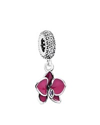 Pandora Design Pandora Dangle Charm Sterling Silver Cubic Zirconia And Enamel Orchid Moments Collection Radiant Orchid