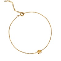 Lee Renee Mini Shell And Pearl Bracelet Gold Vermeil