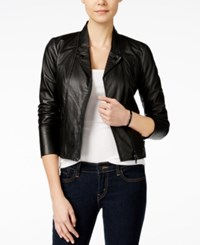 Armani Exchange Moto Jacket Solid Black