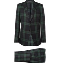 Valentino Slim Fit Plaid Wool Suit