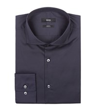 Boss Stretch Slim Fit Shirt Male Navy