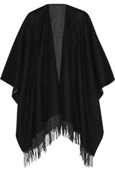 Rag And Bone Reversible Merino Wool Wrap Black