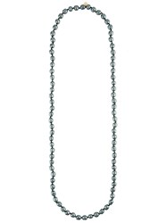 Chanel Vintage Faux Pearl Necklace Grey