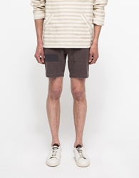Creep By Hiroshi Awai Linen Camp Shorts Grey