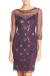 Women's Pisarro Nights Beaded Mesh Shift Dress