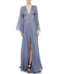 Versace Plunging V Neck Silk Gown 38