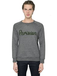 Maison Kitsune Parisien Embroidered Cotton Sweatshirt