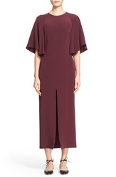 Adam By Adam Lippes Women's Adam Lippes Flounce Sleeve Satin Crepe Dress