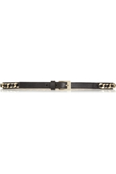 Givenchy Belt In Black Leather And Gold Tone Brass
