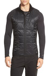 Men's Smartwool 'Corbet 120' Quilted Zip Front Vest Black