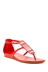Cole Haan Abbe Thong Toe Sandal Red