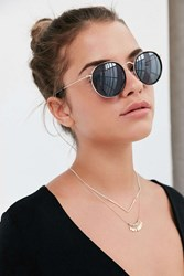 Urban Outfitters Charlie Metal Round Sunglasses Black
