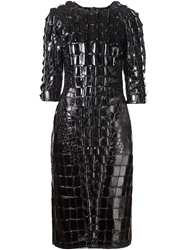 Ktz Scale Effect Embellished Dress Black