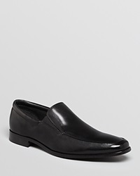 Gordon Rush Elliot Leather Apron Toe Loafers Black