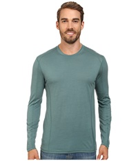 Smartwool Nts Micro 150 Crew Neck Sea Pine Men's Long Sleeve Pullover Blue