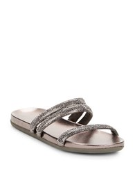 Kenneth Cole Reaction Slim Shotz Beaded Sandals Pewter