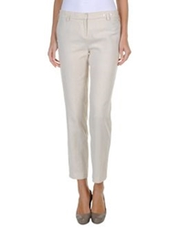 Les Prairies De Paris Casual Pants Beige