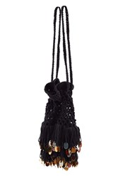 Anna Sui For Opening Ceremony Crochet Bag Black