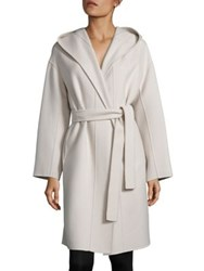 Max Mara Wool Wrap Coat Ivory