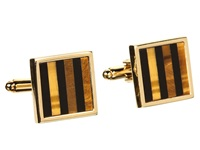 Stacy Adams Cuff Link 10141 Gold W Onyx Cuff Links Multi