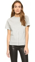 Cheap Monday Blank Zip Sweatshirt Grey Melange