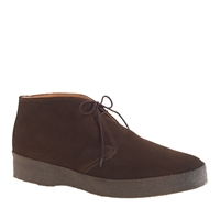 J.Crew Men's Sanderstm Hi Top Chukka Boots Dark Brown Suede