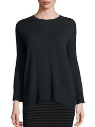 Eileen Fisher Merino Wool And Cashmere Hi Lo Sweater Charcoal