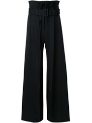 Yang Li High Waisted Trousers Black