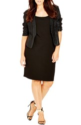 Plus Size Women's City Chic 'Shimmer' Jacket