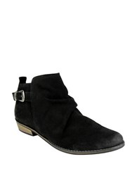 Naughty Monkey Buckle Me Up Suede Booties Black