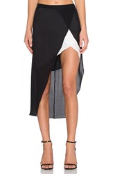 Mason By Michelle Mason Contrast Slip Skirt Black