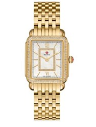 Michele Deco Ii 16 Diamond Mother Of Pearl And 18K Goldplated Stainless Steel Bracelet Watch
