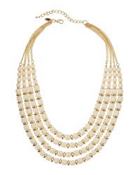 Emily And Ashley Greenbeads By Emily And Ashley Golden Multi Strand Ivory Bib Necklace Women's